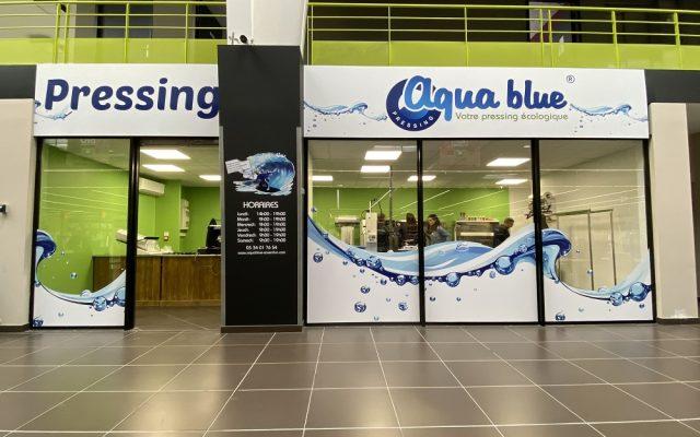 Pressing Aqua blue de Saverdun 09